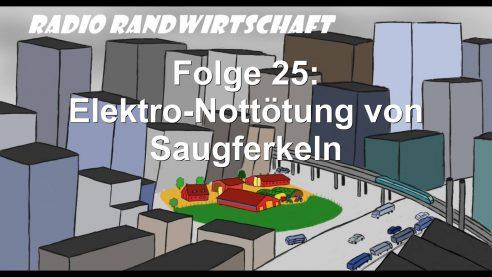 Radio Randwirtschaft Folge 25: Elektro-Nottötung von Saugferkeln – TiHo-Tierschutztagung2019